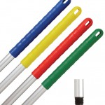 Anodised Aluminium Colour-coded Mop Handles Screw Fit