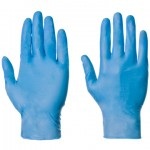 supertouch vynatrile medical disposable gloves (large) box of 100